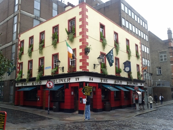 Temple Bar district in Dublin